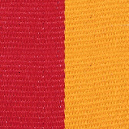 Neck Ribbon - Red & Gold