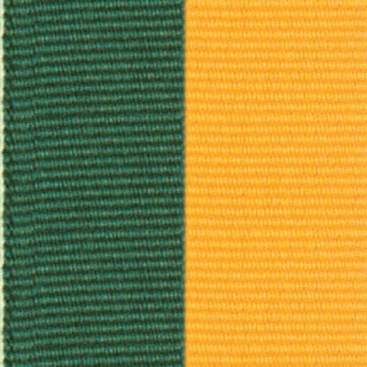 Neck Ribbon - Hunter Green & Gold