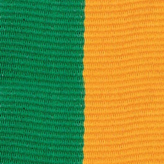 Neck Ribbon - Green & Gold