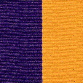Neck Ribbon - Purple & Gold