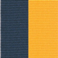 Neck Ribbon - Navy Blue & Gold
