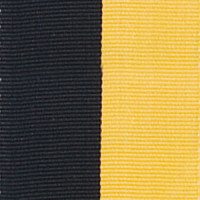 Neck Ribbon - Black & Gold