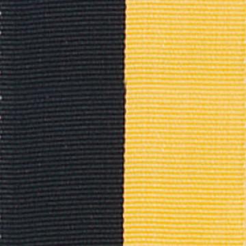 Neck Ribbon - Black & Gold