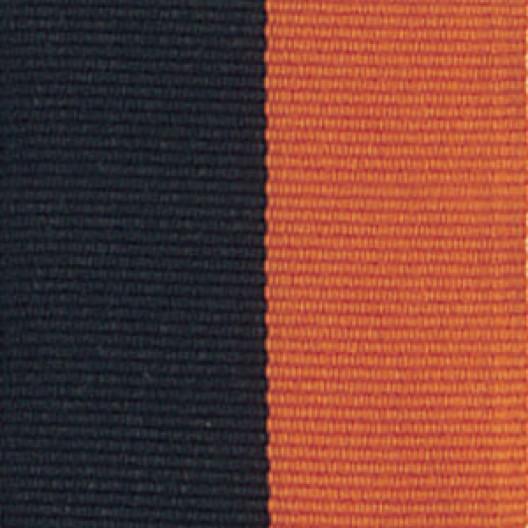 Neck Ribbon - Black & Orange