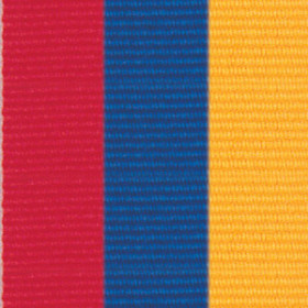 Neck Ribbon - Red, Blue, & Gold