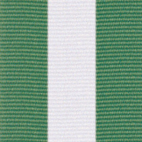 Neck Ribbon - Green, White, & Green