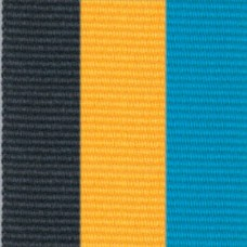 Neck Ribbon - Black, Gold, & Aqua