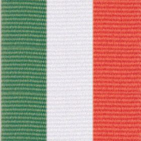 Neck Ribbon - Green, White, & Orange