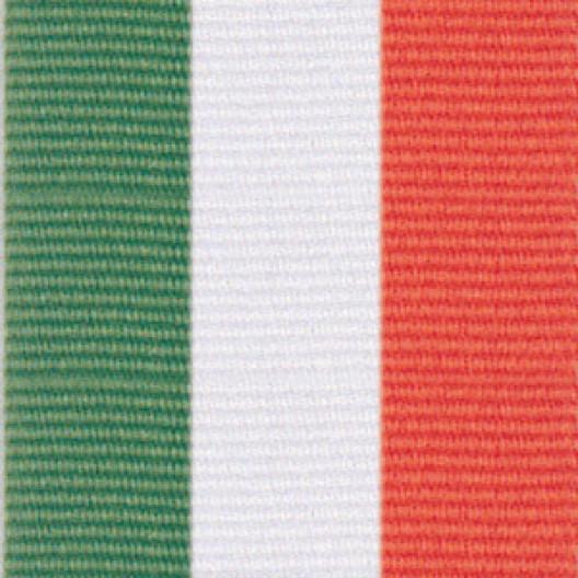 Neck Ribbon - Green, White, & Orange