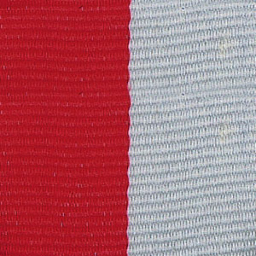 Neck Ribbon - Red & Gray