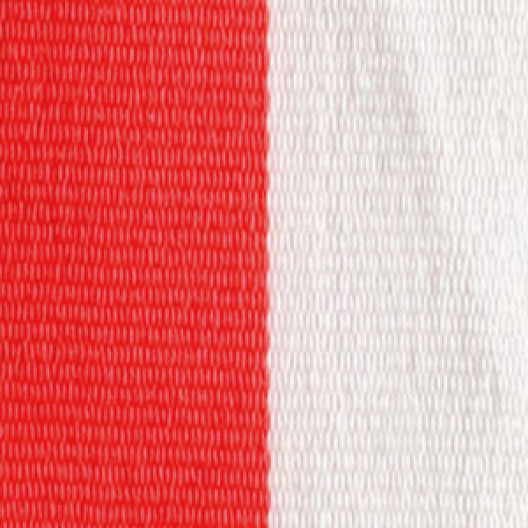 Neck Ribbon - Orange & White