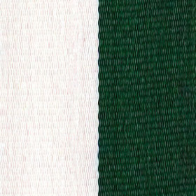 Neck Ribbon - Hunter Green & White