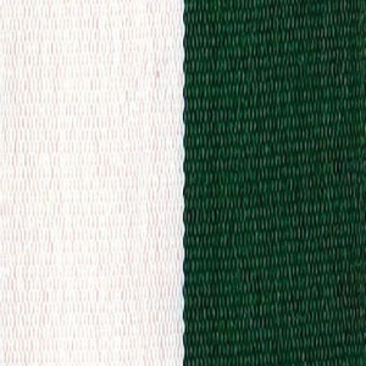 Neck Ribbon - Hunter Green & White