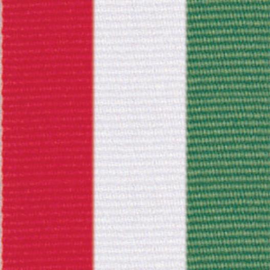 Neck Ribbon - Red, White, & Green