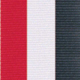 Neck Ribbon - Red, White, & Black