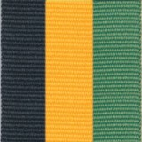 Neck Ribbon - Black, Gold, & Green