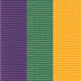 Neck Ribbon - Purple, Green, & Gold
