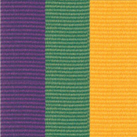 Neck Ribbon - Purple, Green, & Gold