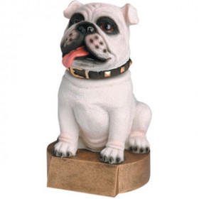 Bobblehead - Bulldog, White