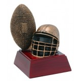 "Football & Helmet 4"" Resin"