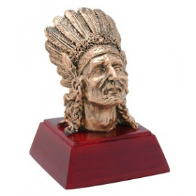 "Indian Chief 4"" Resin"