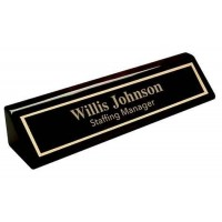 Black Piano Desk Wedge - 10""