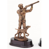 Hunter with Pointer Dog Resin - 9""