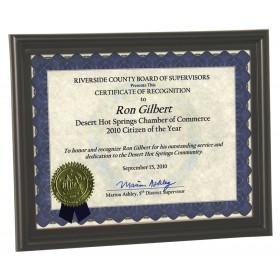 "Certificate Frame - 8.5"" x 11"""