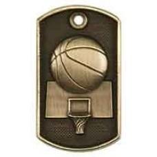 3D Dog Tag - Basketball
