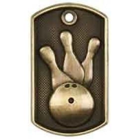 3D Dog Tag - Bowling