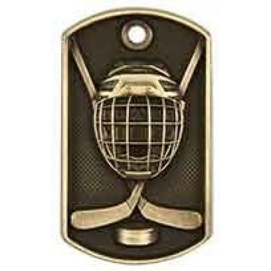 3D Dog Tag - Hockey