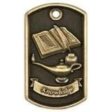 3D Dog Tag - Lamp of Knowledge