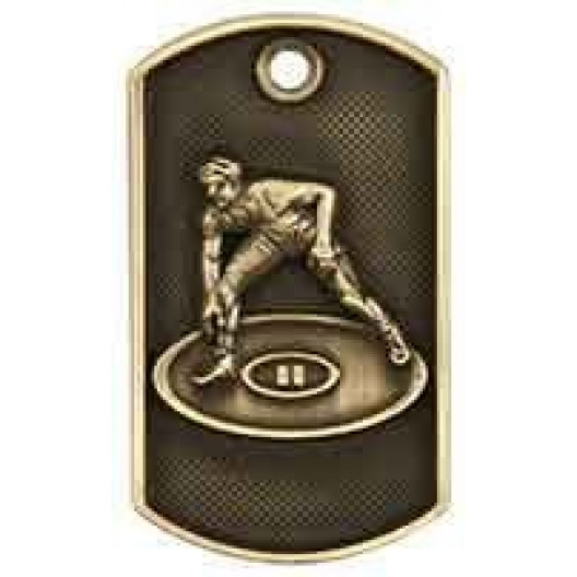 3D Dog Tag - Wrestling