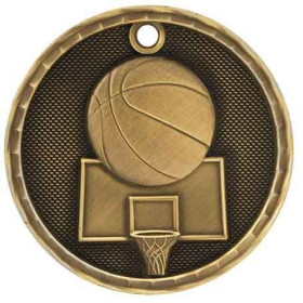 3D Sport Medal - Basketball