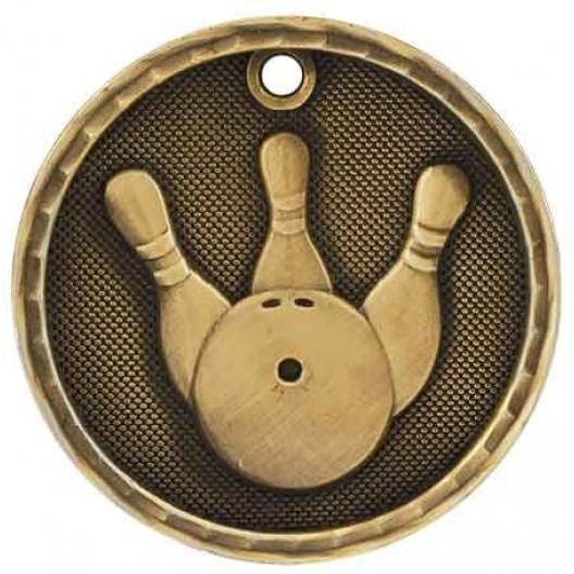 3D Sport Medal - Bowling
