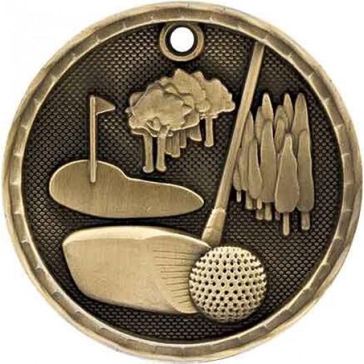 3D Sport Medal - Golf