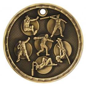 3D Sport Medal - Track & Field