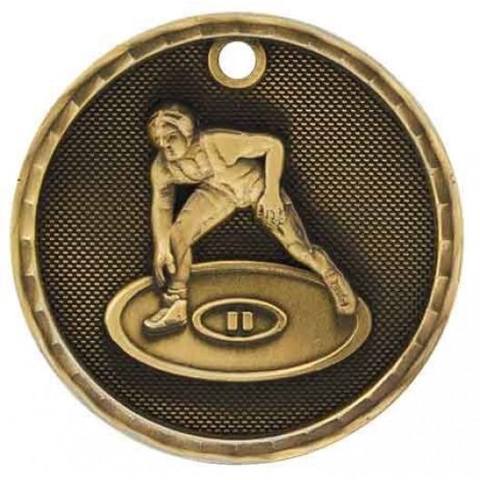 3D Sport Medal - Wrestling