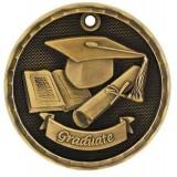 3D Academic Medals - Graduate