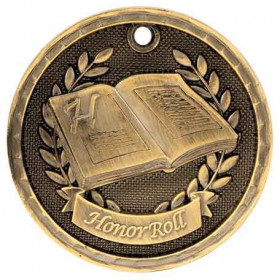 3D Academic Medal - Honor Roll