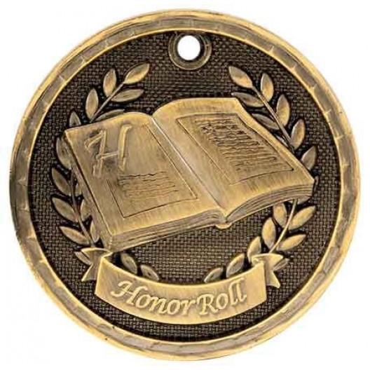 3D Academic Medal - Honor Roll