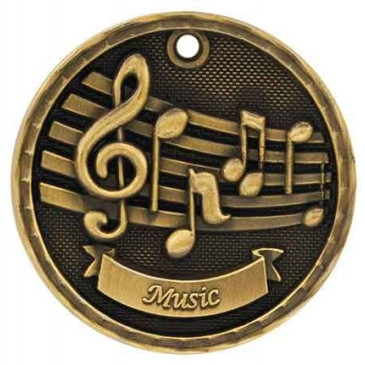 3D Academic Medal - Music