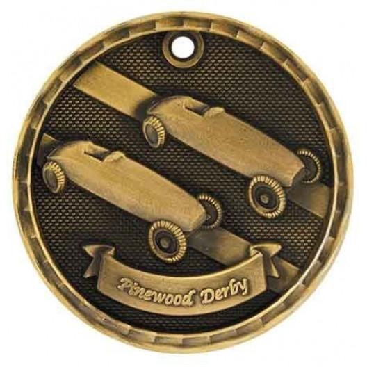 3D Sport Medal - Pinewood Derby