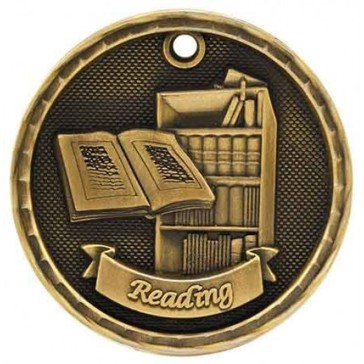 3D Academic Medal - Reading