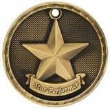 3D Academic Medal - Star Performer