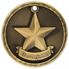 3D Academic Medal - Star Performer