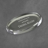 Clear Radius Acrylic Paperweight