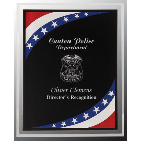 Stars & Stripes Border Clear-Plaq Acrylic
