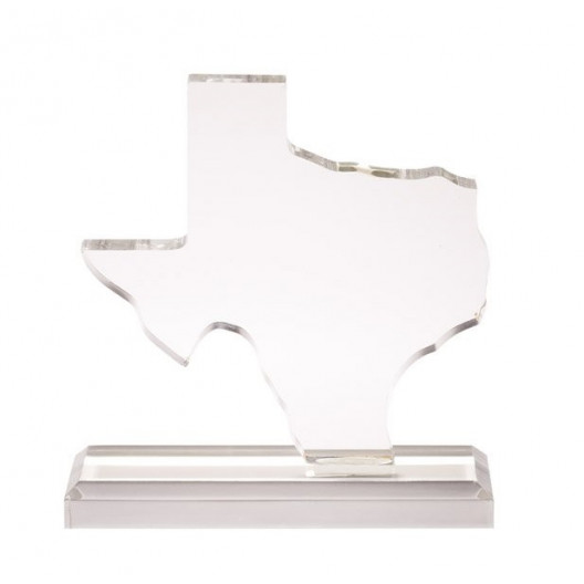 Clear Texas State Acrylic