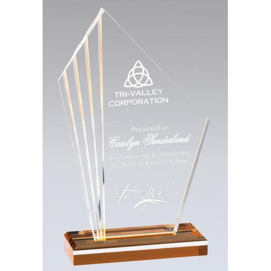 Radiant Edge Gold Acrylic Award